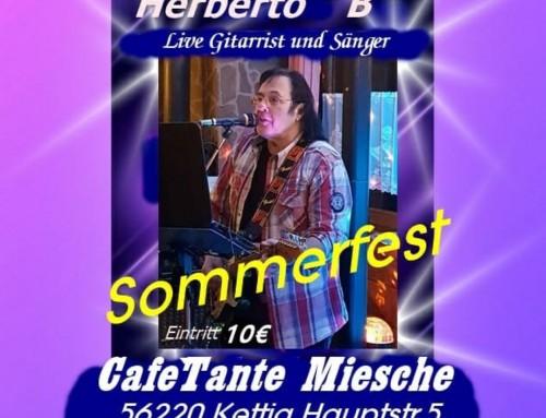 """Konzert: Herberto """"B"""" im CafeTante Miesche am 9.9.2020"""